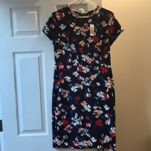 Banana republic floral blue dress